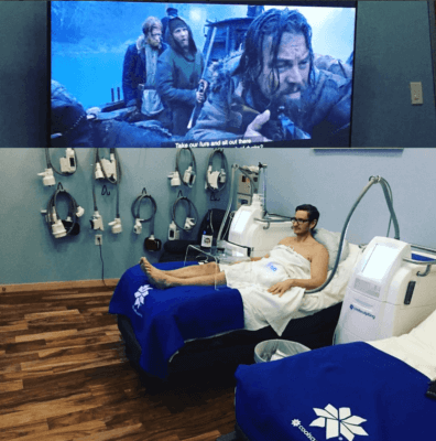 80 inch tv and Sonos sound in all of our CoolSculpting suites available daily