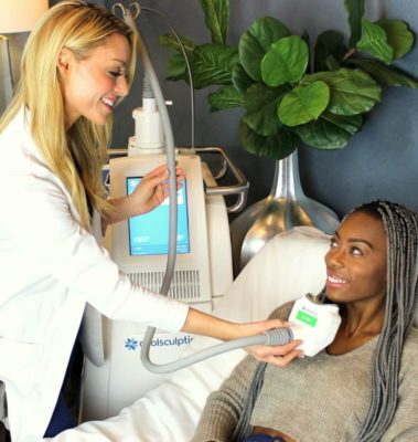 CoolSculpting for the double chin at our West Hollywood location